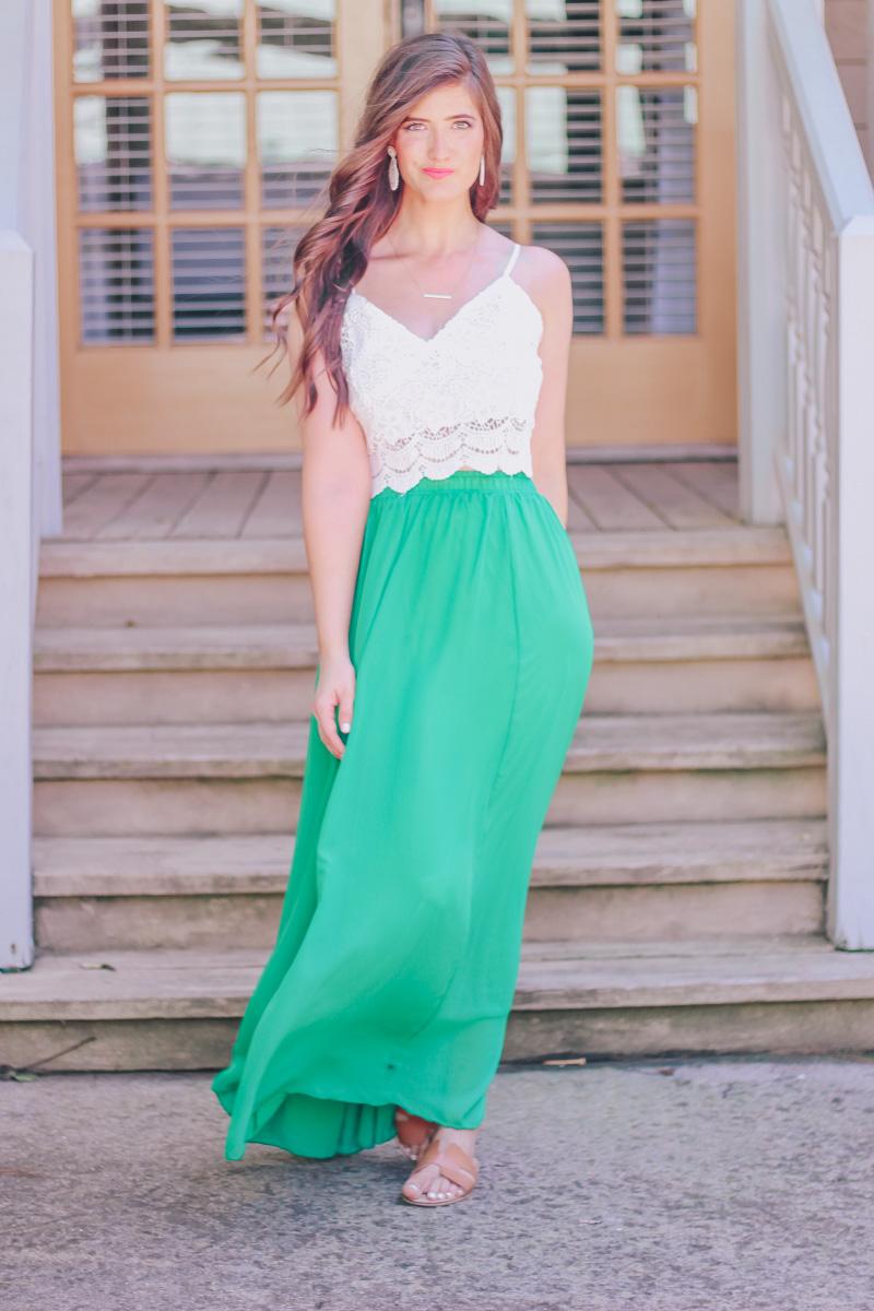 Gorgeous Flowy Green Skirt