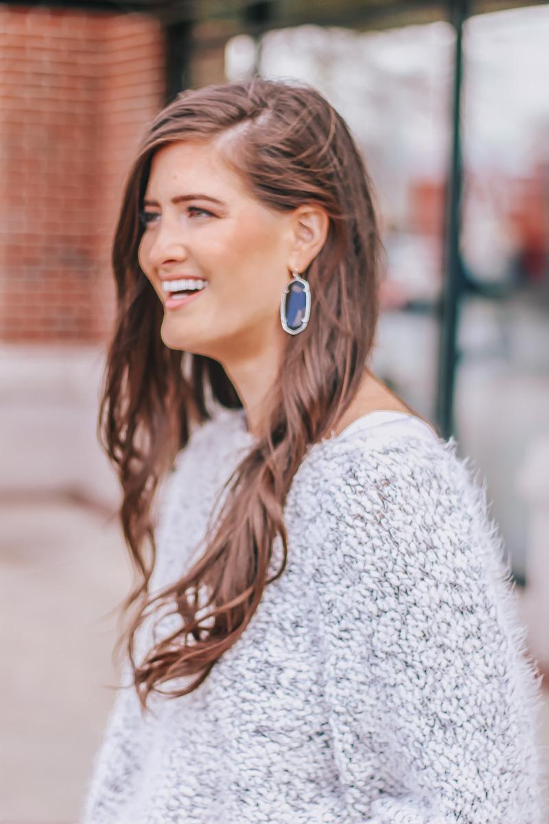 Fuzzy Grey Sweater