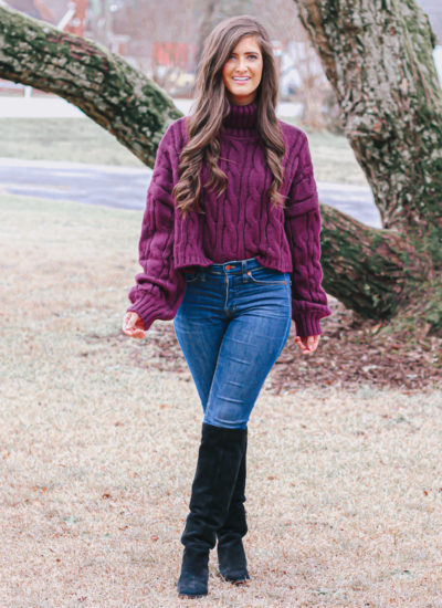 How To Style A Cropped Chunky Sweater
