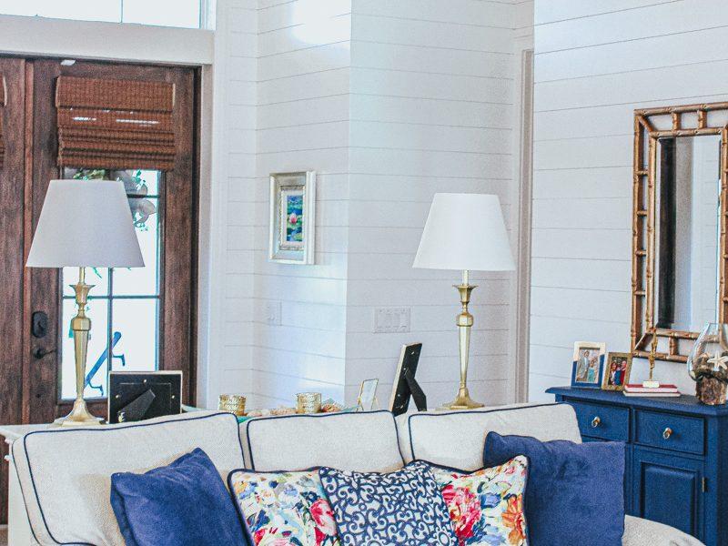 Classic Coastal Home : The Living Room