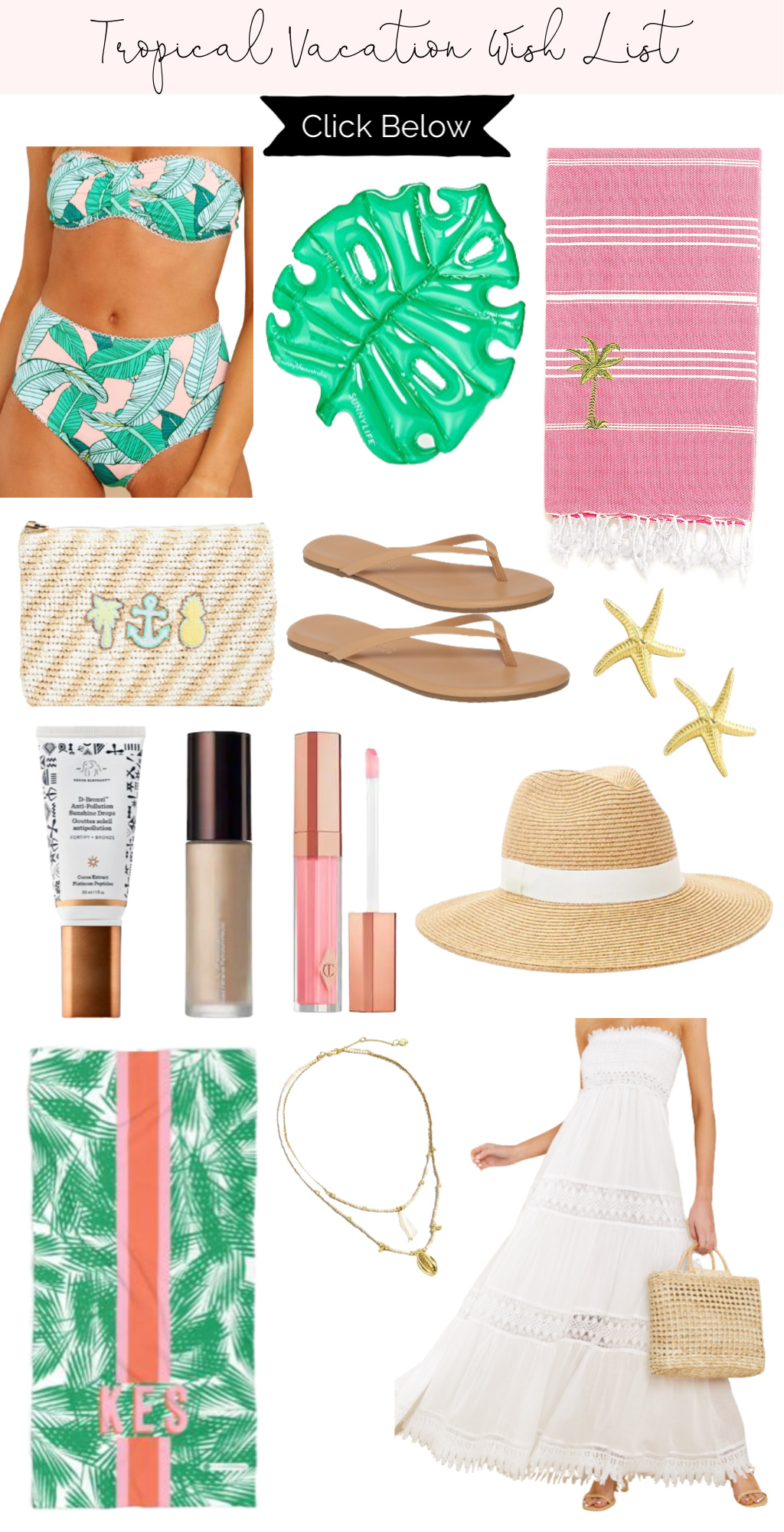 Tropical Vacation Wish List