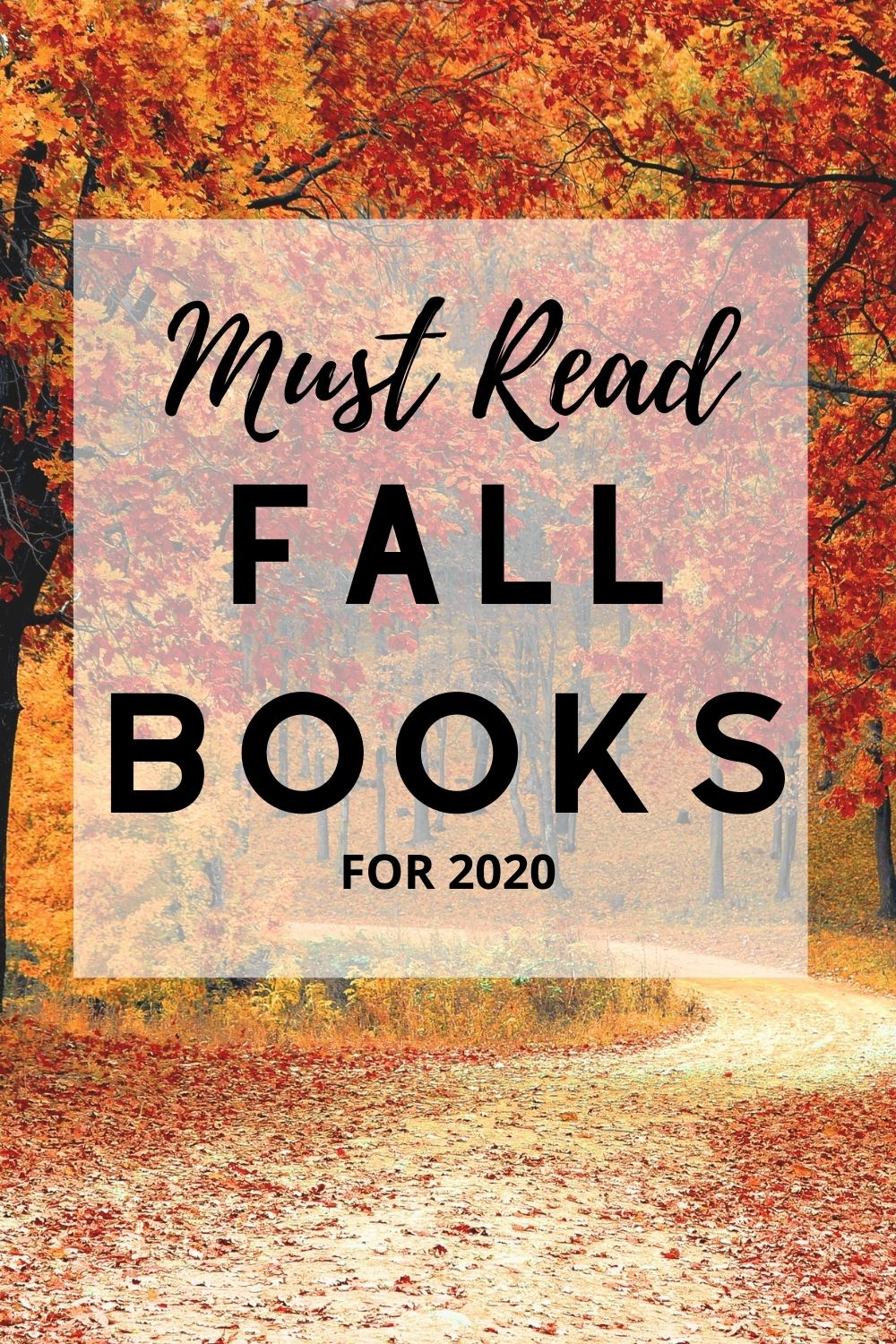 Must Read Fall Books For 2020