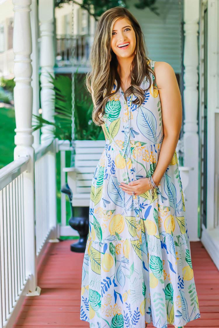 Olivia James Botanical Lemon Dress